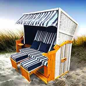 Original Brast Strandkorb, 3 Sitzer