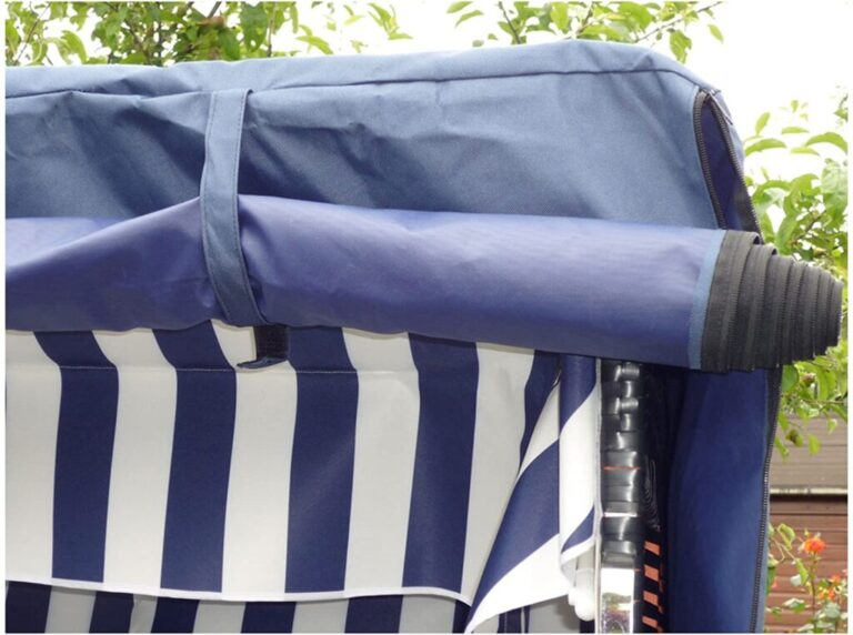 XINRO Strandkorb XL Volllieger im Ostsee-Stil Markise