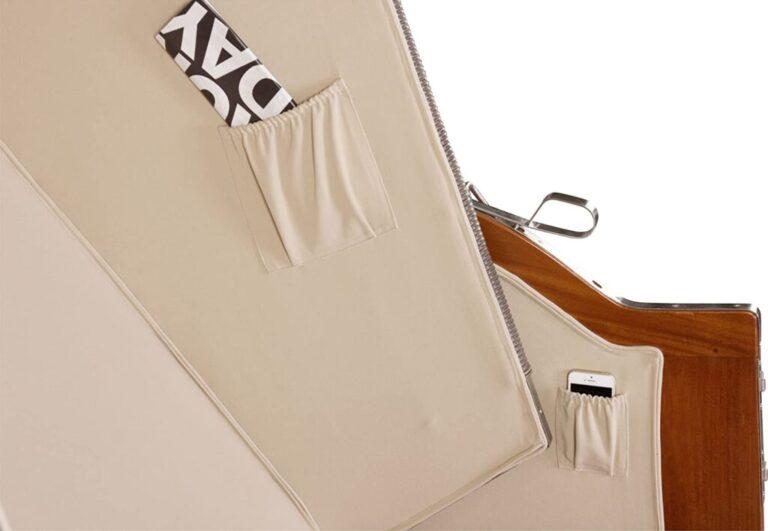 Seitentaschen Luxus Strandkorb