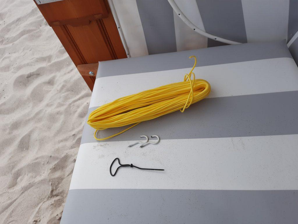 Strandkorb Wäscheleine Werkzeug