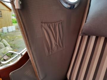 Strandkorb mahagoni Düne Seitentaschen